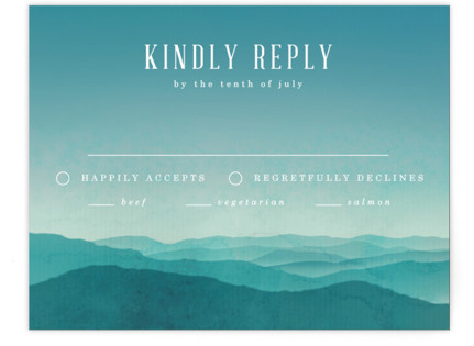 Misty Mountain Range RSVP Cards