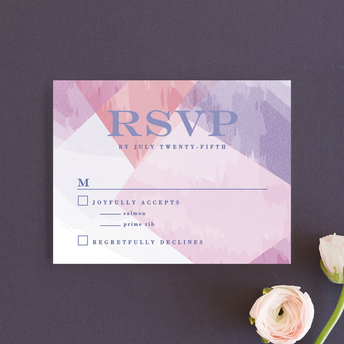 """wash of color"" - Rsvp Cards in Lilac by Karidy Walker."