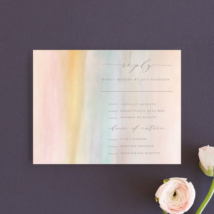 """Off Shore"" - Rsvp Cards in Dawn by Grace Kreinbrink."