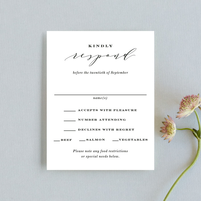 """""""Perspective"""" - Rsvp Cards in Noir by Kimberly FitzSimons."""