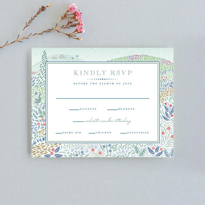 """Woodland Garden"" - Rsvp Cards in Daybreak by Paper Sun Studio."