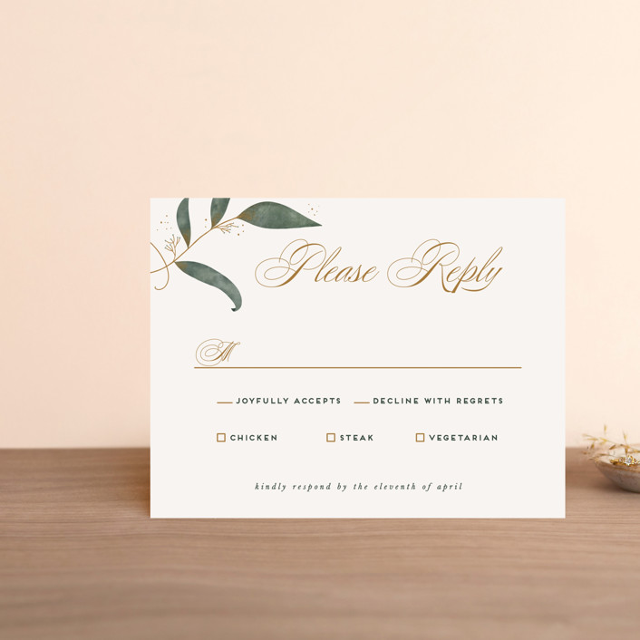 """""""Love Grows"""" - Rsvp Cards in Leaf by Leah Bisch."""