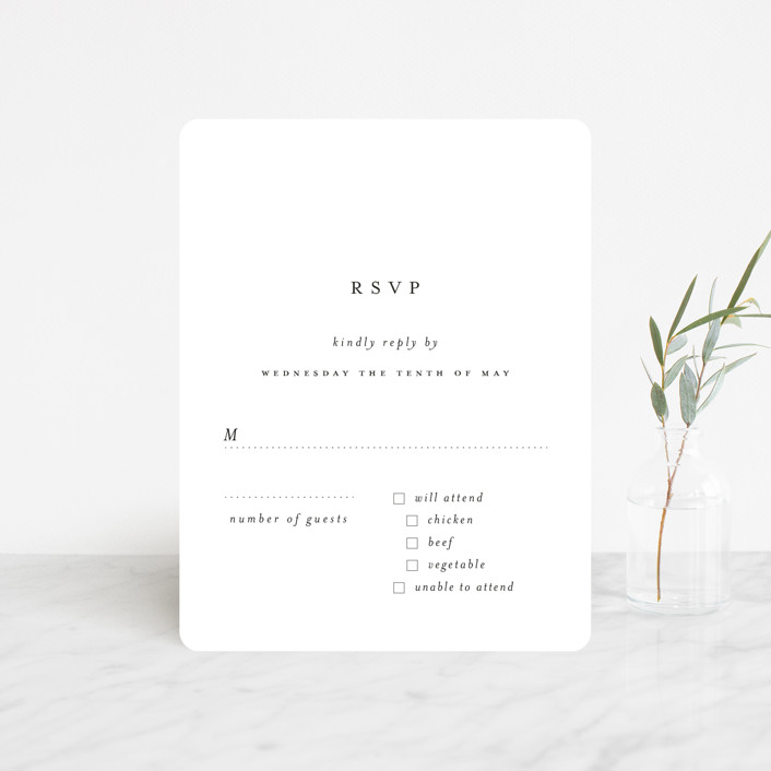 """""""A Thousand Years"""" - Rsvp Cards in Classic White by Design Lotus."""