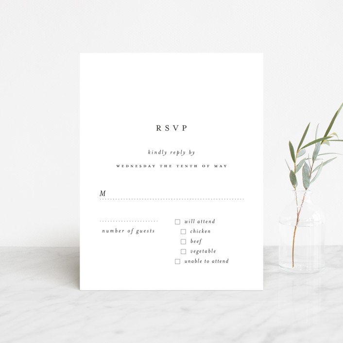 """A Thousand Years"" - Rsvp Cards in Classic White by Design Lotus."