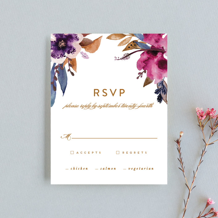 """Fall romance"" - Rsvp Cards in Jewelled by Creo Study."