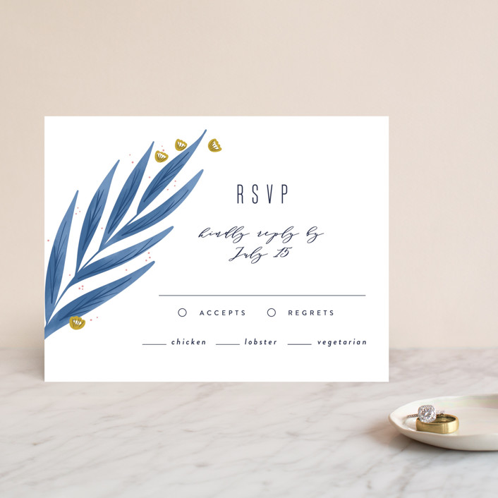 """""""Paradise"""" - Rsvp Cards in Seaside by Joanna Griffin."""