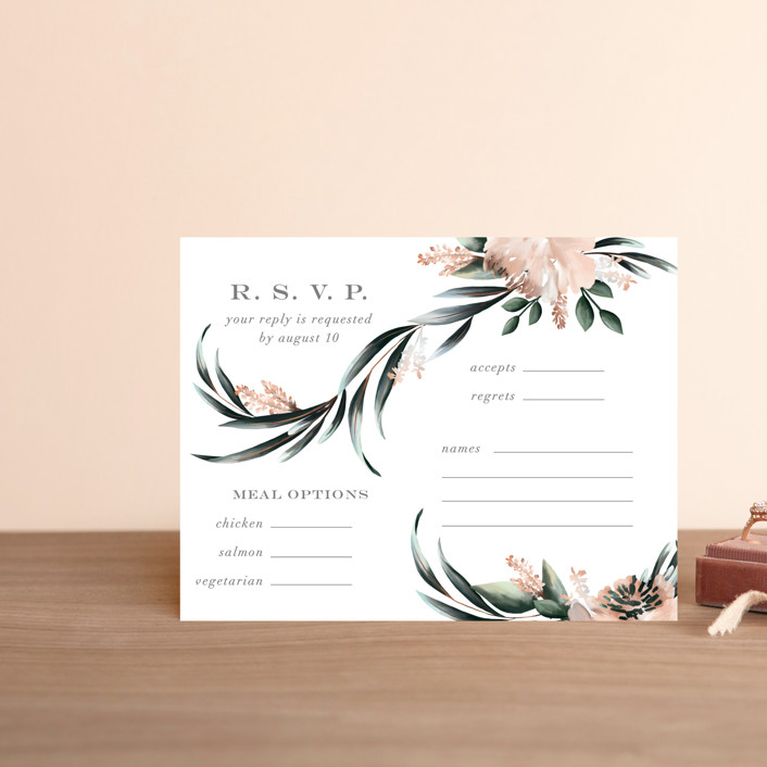 """Maya Rustica"" - Rsvp Cards in Rose by Petra Kern."