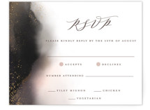 This is a grey rsvp card by iamtanya called Enchantment with standard printing on signature in standard.