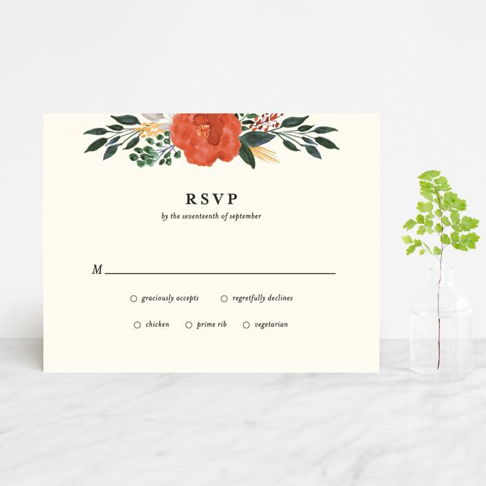 """""""Flourishing"""" - Rsvp Cards in Bloom by Beth Schneider."""