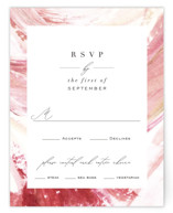 This is a pink rsvp card by Robin Ott called pollen with standard printing on signature in standard.