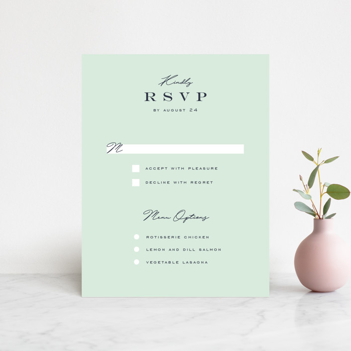 """""""Cascading Florals"""" - Rsvp Cards in Rouge by Leah Bisch."""