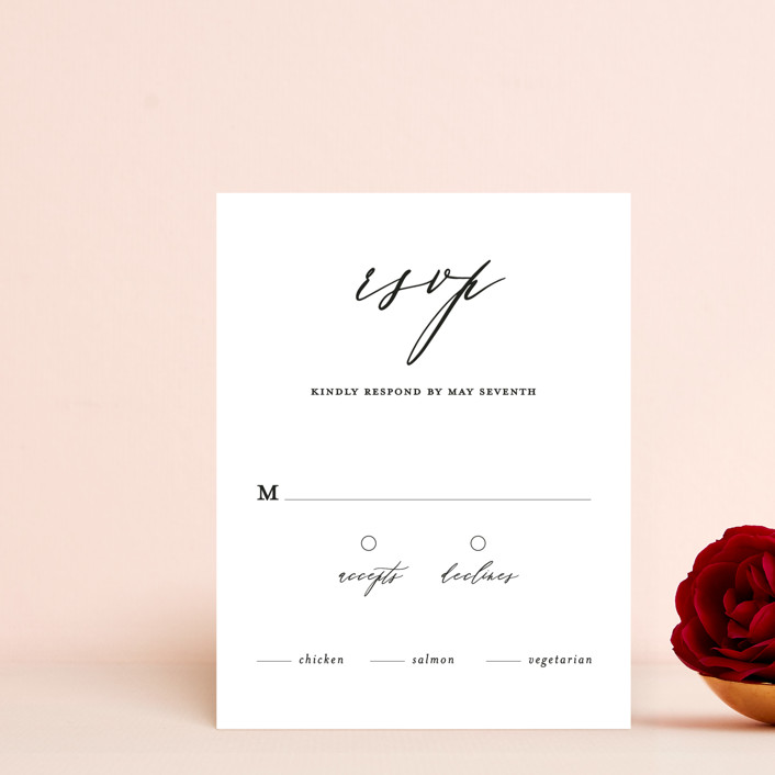 """""""Villa"""" - Rsvp Cards in Ink by Chryssi Tsoupanarias."""