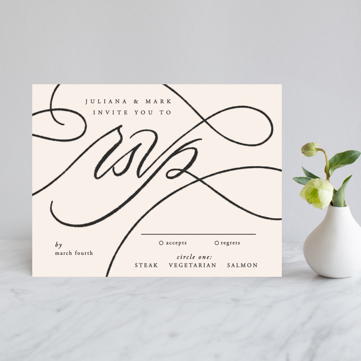 """""""Fountain Pen"""" - Rsvp Cards in Creme by Erin L. Wilson."""