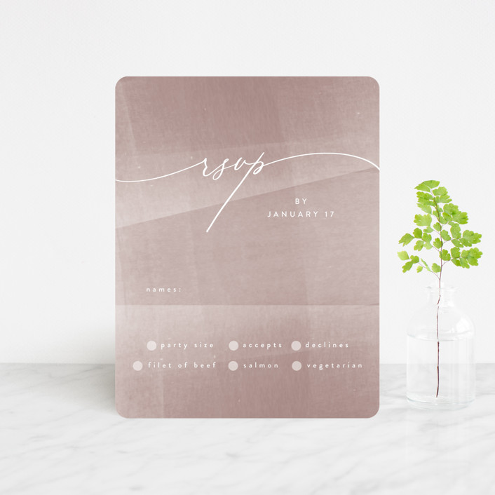 """""""plain paint"""" - Modern Rsvp Cards in Taupe by Phrosne Ras."""