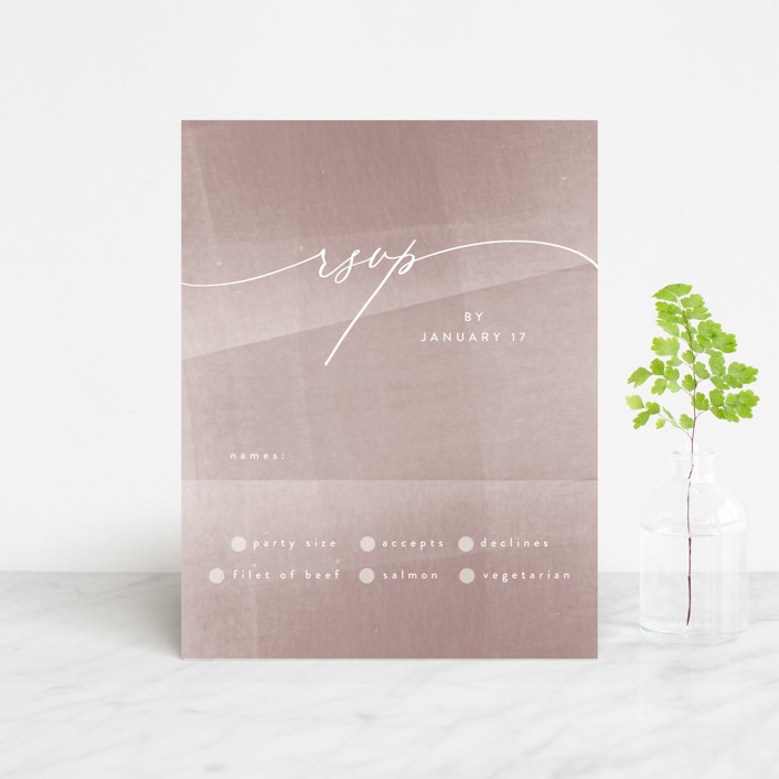 """plain paint"" - Modern Rsvp Cards in Taupe by Phrosne Ras."