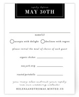 This is a black and white rsvp card by 2birdstone called Helena with standard printing on signature in standard.