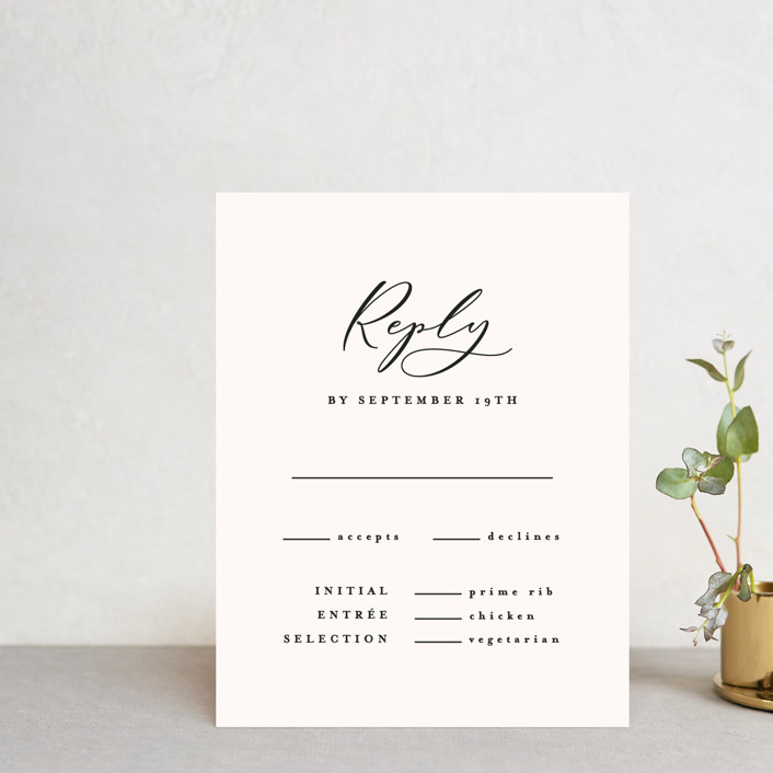 """Eternal"" - Rsvp Cards in Ecru by carly reed walker."