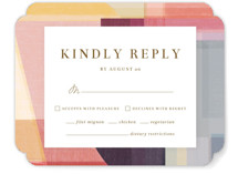 This is a orange rsvp card by Griffinbell Paper Co. called Edgewater with standard printing on signature in standard.