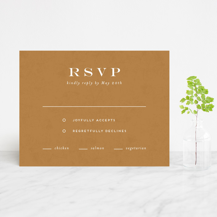 """""""Terrazzo Frame"""" - Modern Rsvp Cards in Mustard by Amy Payne."""