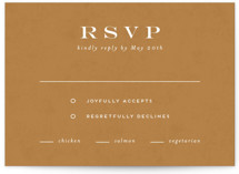 This is a white rsvp card by Amy Payne called Terrazzo Frame with standard printing on signature in standard.