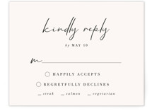 This is a white rsvp card by Nicoletta Savod called mod with standard printing on signature in standard.