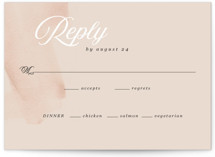 This is a white rsvp card by Anna Elder called Romance with standard printing on signature in standard.