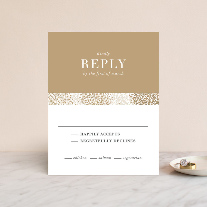 """""""Organic Dots"""" - Bohemian Rsvp Cards in Champagne by lena barakat."""