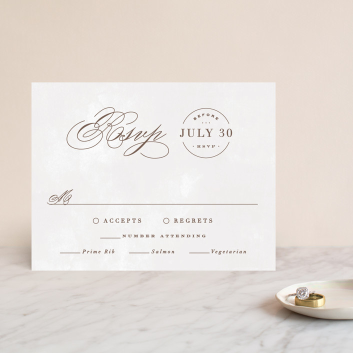 """Sonesta"" - Rsvp Cards in Mineral by Hooray Creative."