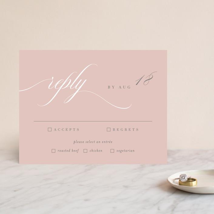 """""""Gramercy"""" - Rsvp Cards in Blush by Kristie Kern."""