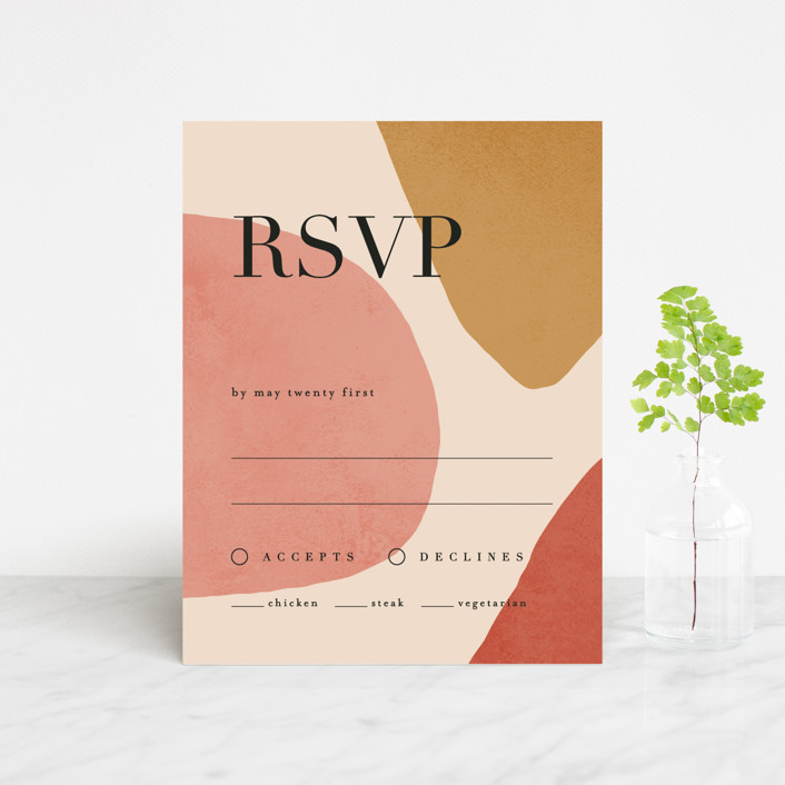 """Galeria"" - Modern Rsvp Cards in Autumn Desert by Kelly Schmidt."