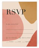 This is a red rsvp card by Kelly Schmidt called Galeria with standard printing on signature in standard.