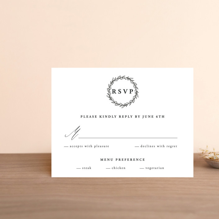 """""""Antoinette"""" - Rsvp Cards in Ivory by lulu and isabelle."""