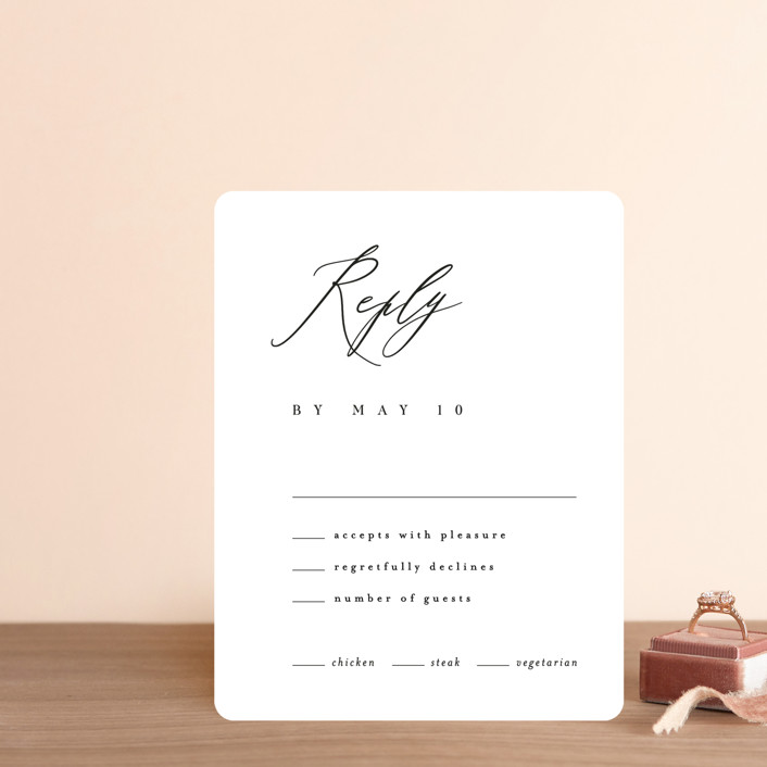"""""""Corison"""" - Rsvp Cards in Classic by Kelly Schmidt."""