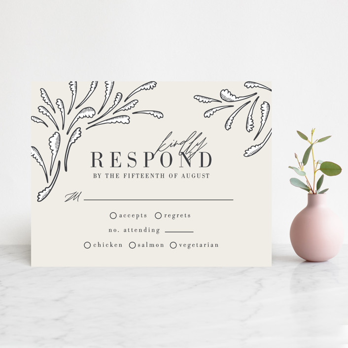 """FancySchmancy"" - Rsvp Cards in Classic by Jen Owens."