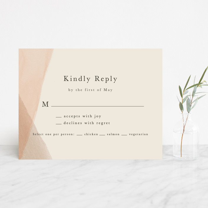 """""""Desert Wash"""" - Rsvp Cards in Peach by Amy Kross."""