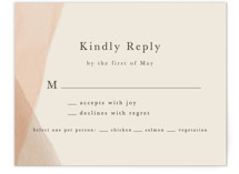 This is a orange rsvp card by Amy Kross called Desert Wash with standard printing on signature in standard.