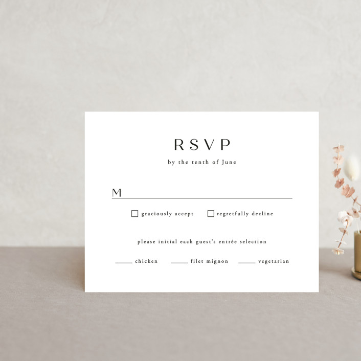 """Arguello"" - Rsvp Cards in Diamond by Annie Shapiro."