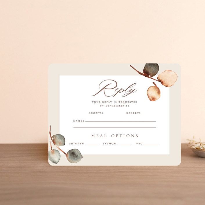 """""""Bella Mia"""" - Rsvp Cards in Autumn by Petra Kern."""