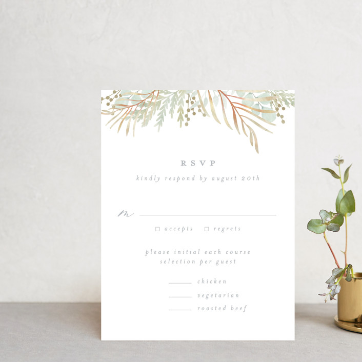 """In The Fall"" - Rsvp Cards in Slate by Ashlee Townsend."