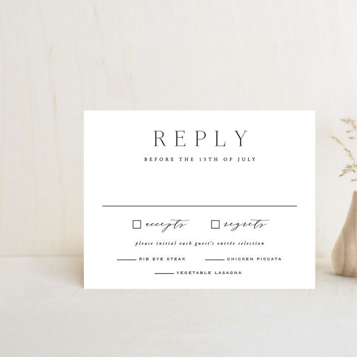 """""""Classy Type"""" - Rsvp Cards in Lily by Hooray Creative."""