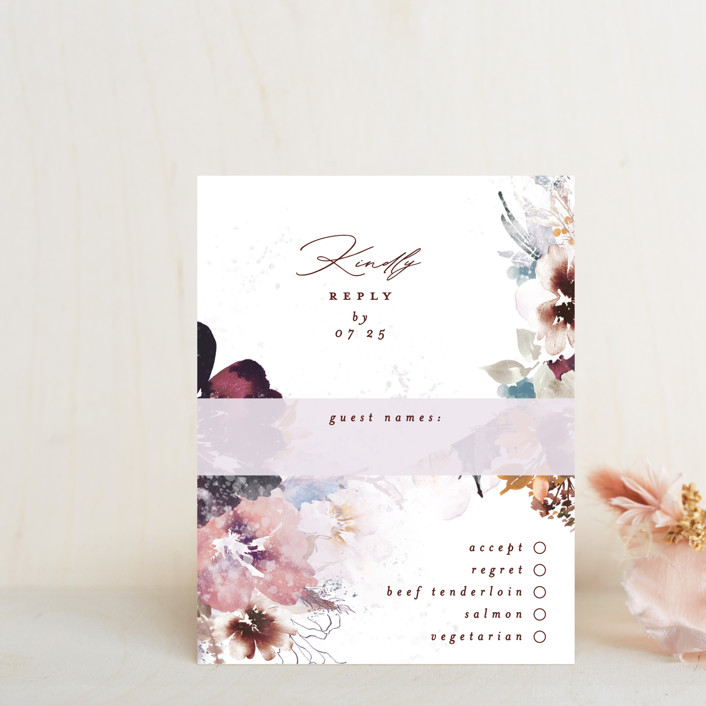"""Lush Bouquet"" - Rsvp Cards in Autumn by Phrosne Ras."