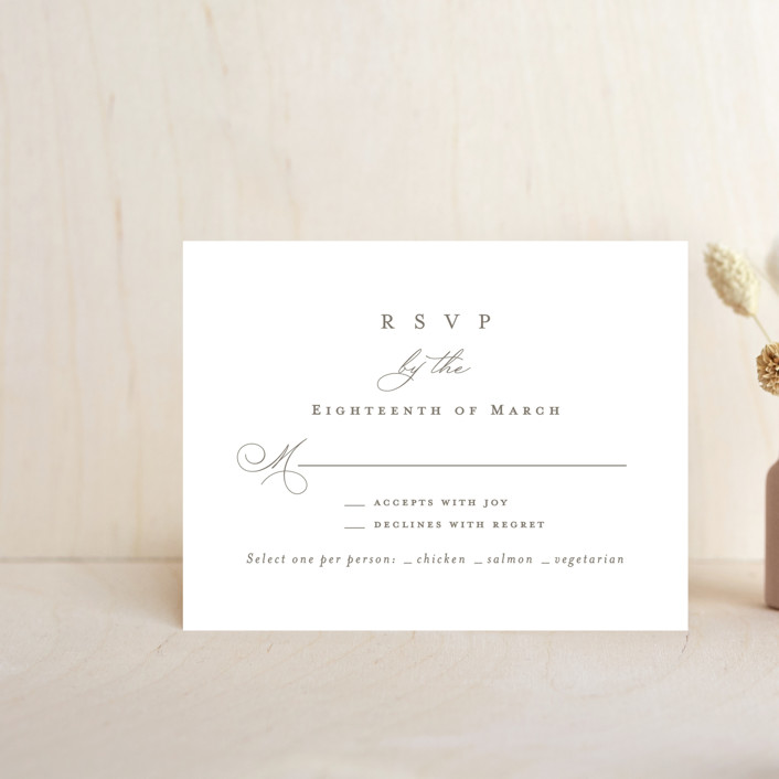 """""""Overlapping"""" - Rsvp Cards in Cotton by Amy Kross."""