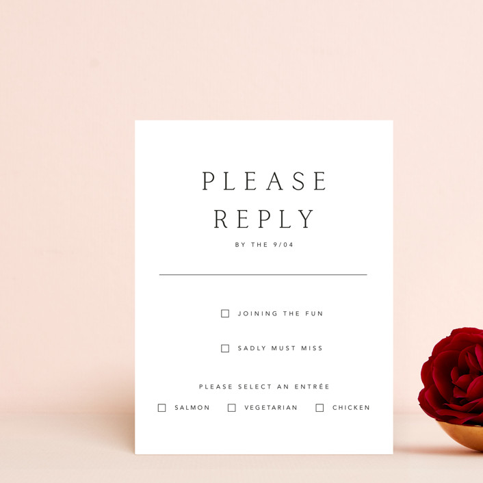 """Svelte"" - Rsvp Cards in Ivory by Fig and Cotton."