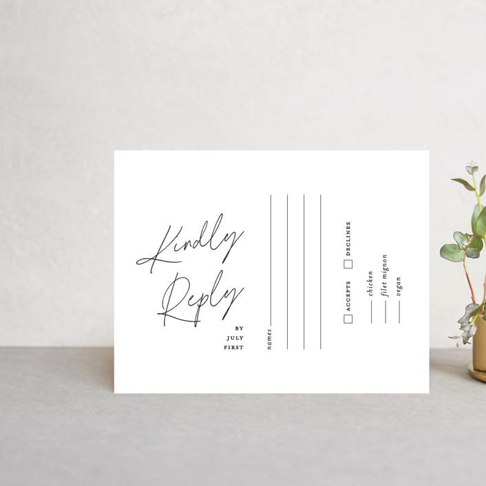 """Landscape"" - Rsvp Cards in Black Tie by Laura Hamm."
