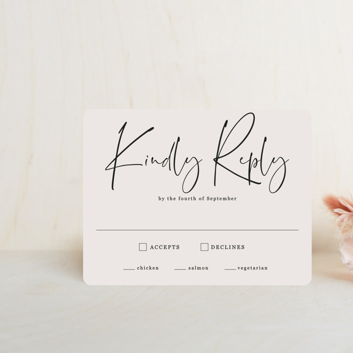 """""""stylist script"""" - Rsvp Cards in Ivory by Cass Loh."""
