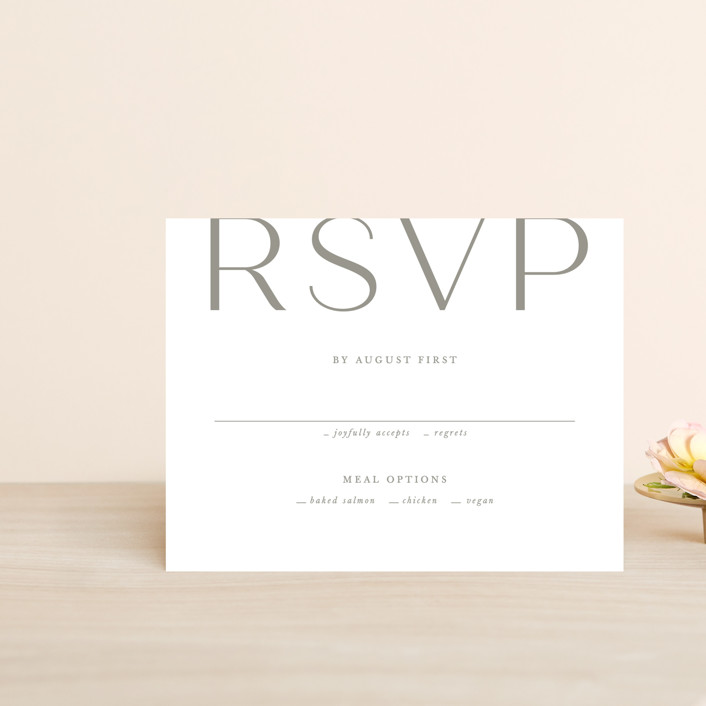 """""""Frame"""" - Rsvp Cards in Granite by Lori Wemple."""