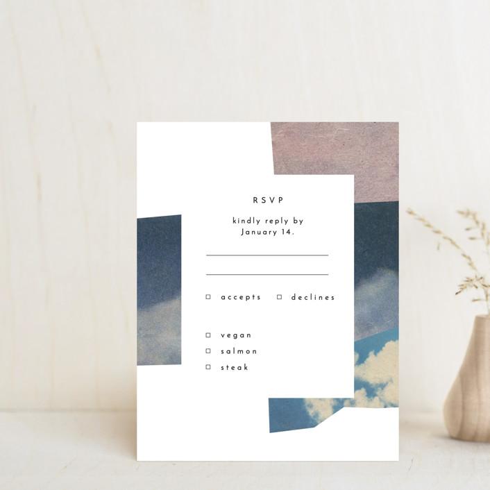 """sky poetry"" - Modern Rsvp Cards in Daylight by Sumak Studio."