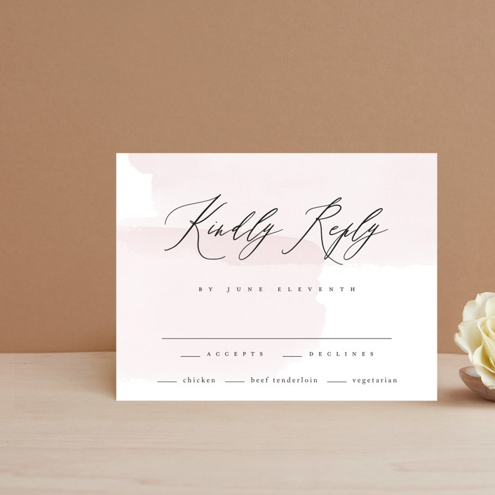"""""""Painterly"""" - Rsvp Cards in Blush by Kelly Schmidt."""
