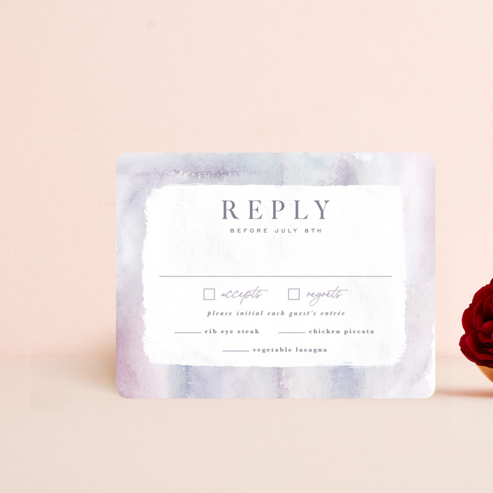 """""""Lavender Fields"""" - Rsvp Cards in Lavender by Hooray Creative."""