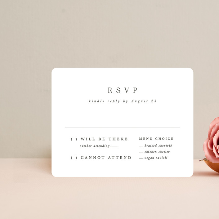 """""""And here we are"""" - Rsvp Cards in Marble by Lea Delaveris."""